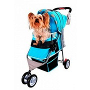 IBIYAYA Коляска для собак New I-Cute Pet Buggy, голубая